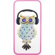 Чехол-накладка TOTO TPU Stones Case IPhone 6 Plus/6S Plus Owl in Headphones Blue