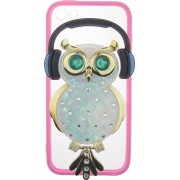 Чехол-накладка TOTO TPU Stones Case IPhone 5/5S/SE Owl in Headphones Green