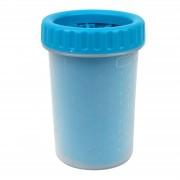 Емкость для мытья лап для животных Удобный и компактный гаджет для очищения лап голубого цвета