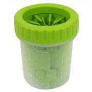 Емкость для мытья лап для животных Удобный и компактный гаджет для очищения лап салатового цвета