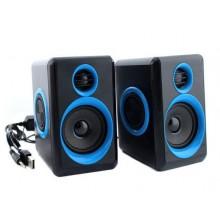 Компьютерные колонки акустические 2.0 USB FnT FT-165 Синие 6 Вт Original
