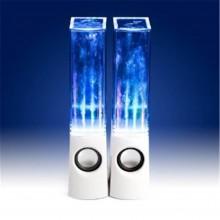 Компьютерные колонки акустические c фонтанчиком KS 2.0 USB 3 + 3 W Белые Original