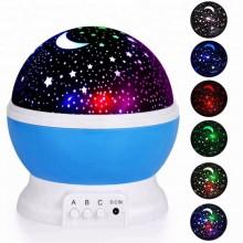 Ночник проектор звездное небо детский светильник Star Master MAX 6 режимов работы + USB (Голубой)
