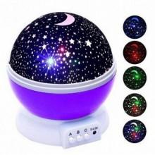 Ночник проектор звездное небо детский светильник Star Master MAX 6 режимов работы + USB (Фиолетовый)