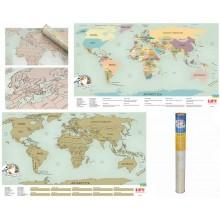 Скретч карта мира на английском языке Scratch map Настенная карта мира со специальным скретч покрытием